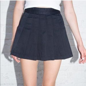 Brandy Melville Dana Pleated Mini Skirt Black Sm